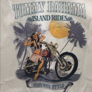 Tommy banana island rides men's white T-shirt Med